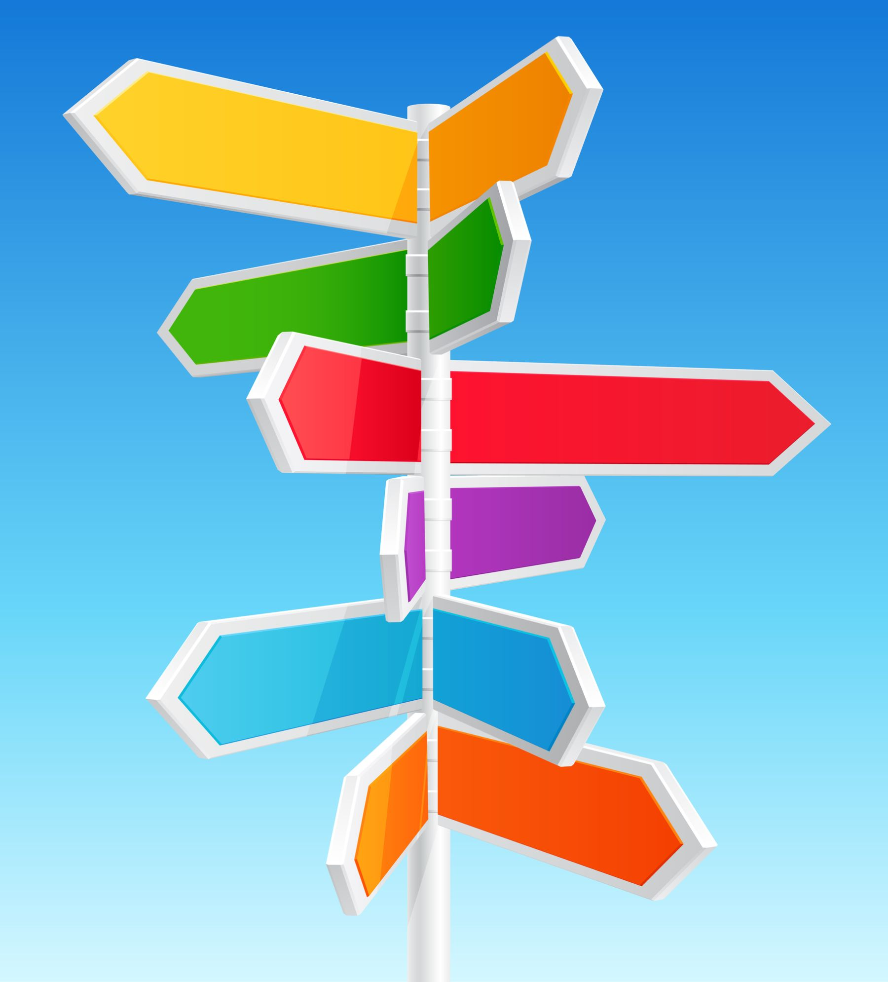 Directional Flags Post