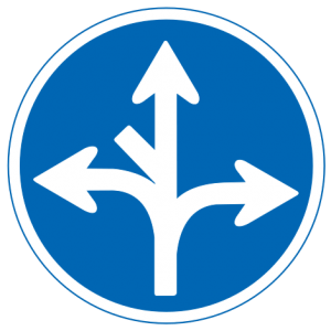 Direction sign