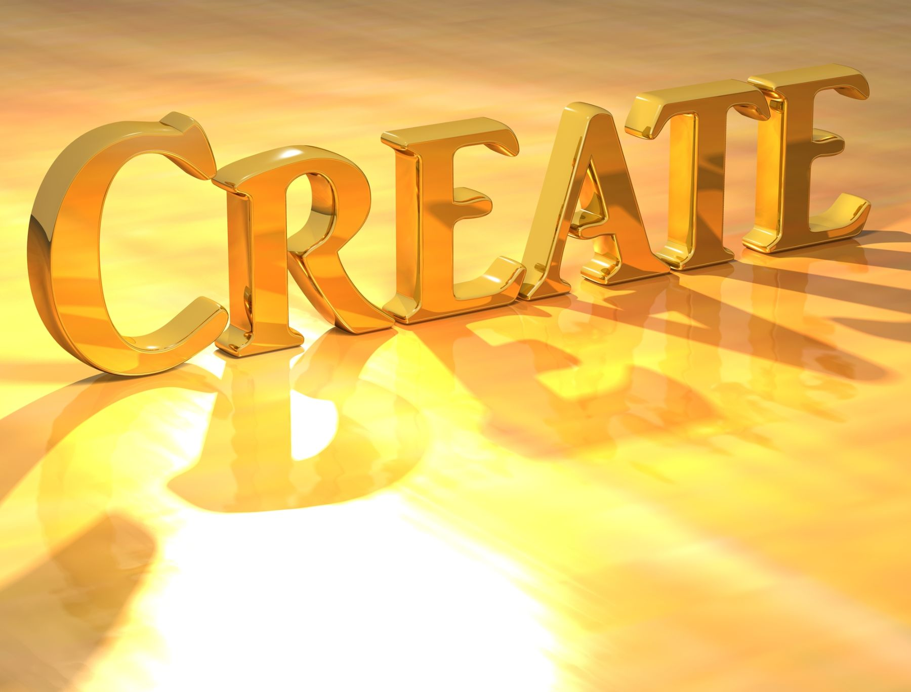 Create in gold letters