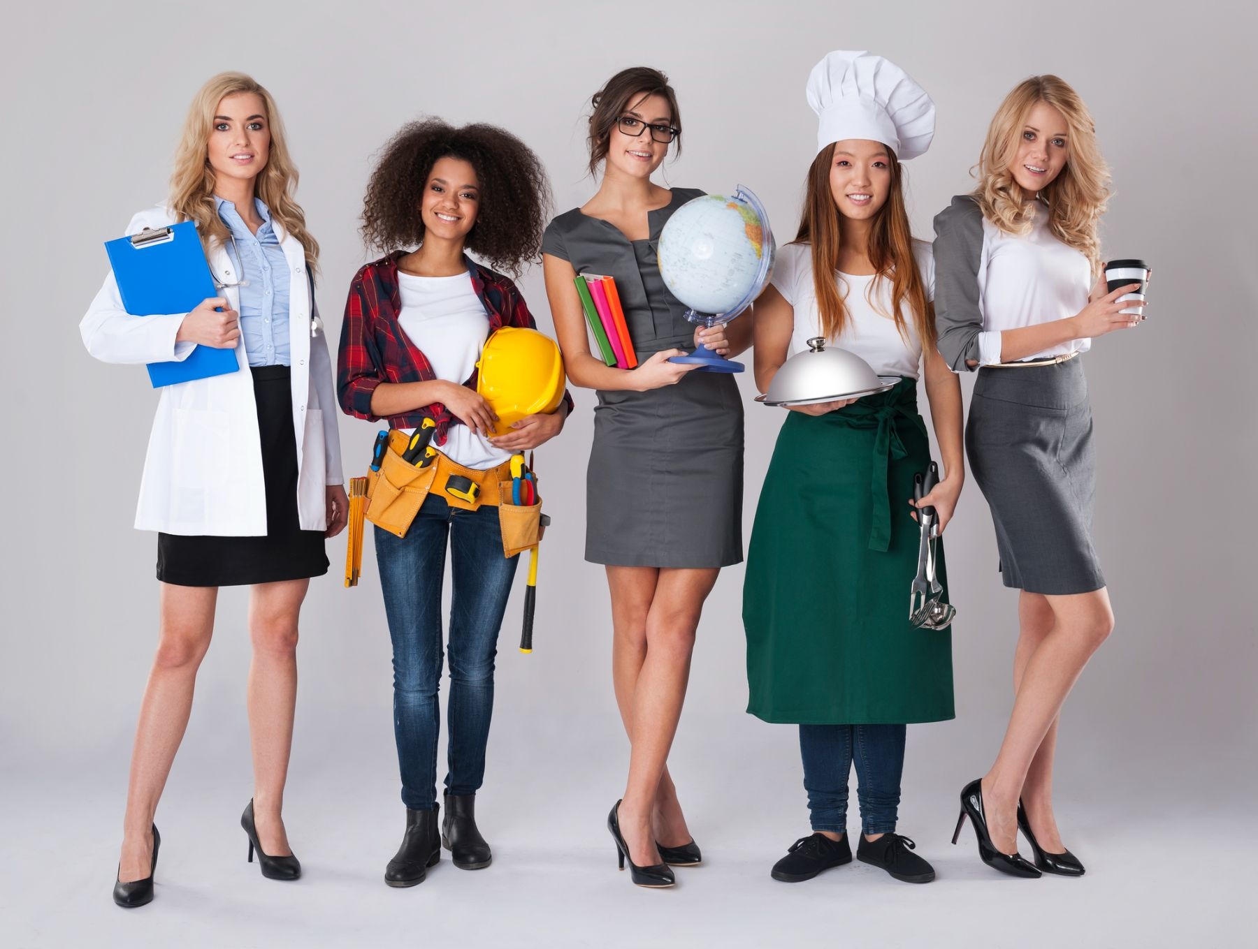 Women dressed as different careers