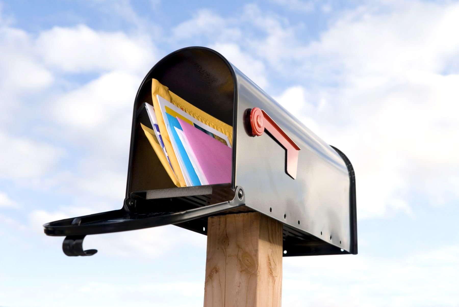 Cards in a mailbox